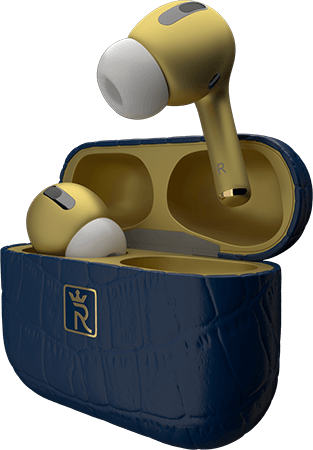 AirPods Gold & Blue